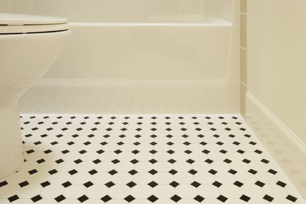 Anti Slip Vinyl Bathroom Vinyl Flooring In Dubai