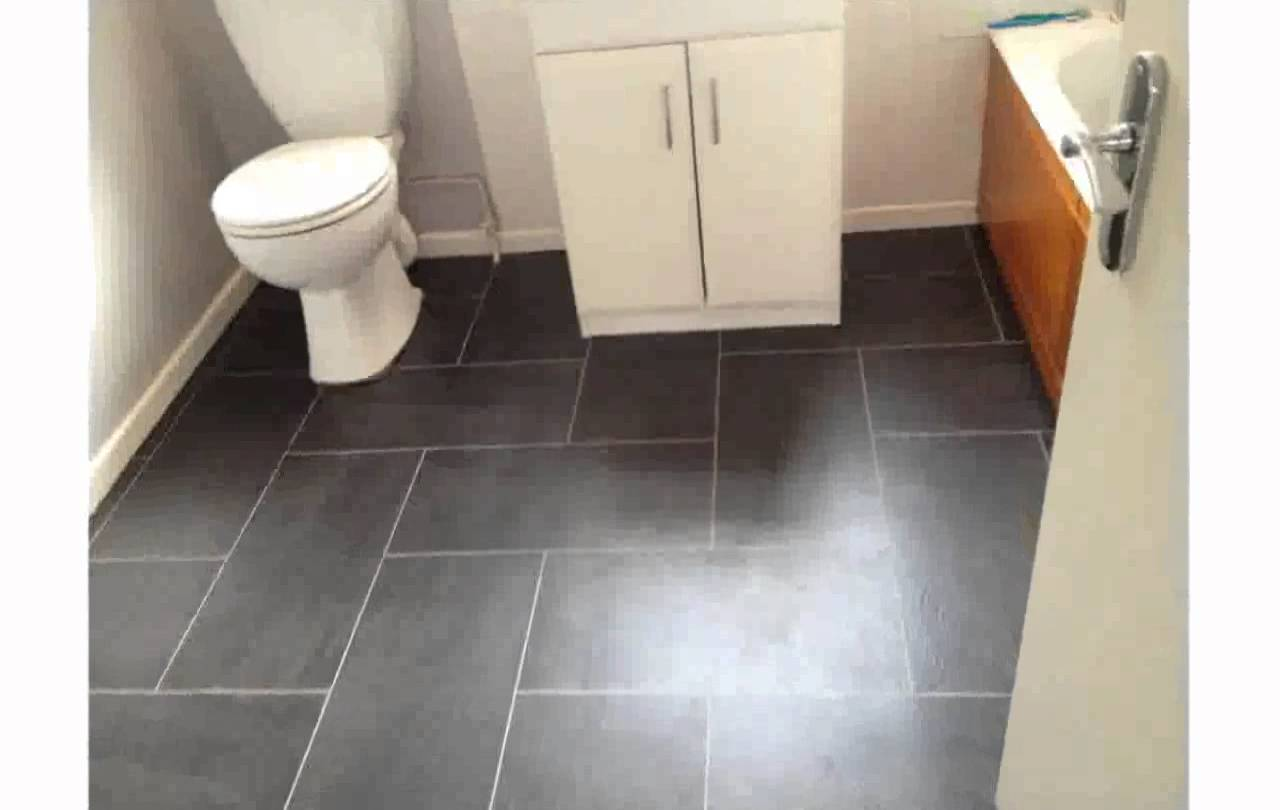 Vinyl tile in bathroom