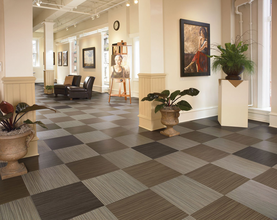 Vct tile pattern ideas joy studio design gallery best for Floor sheet for office